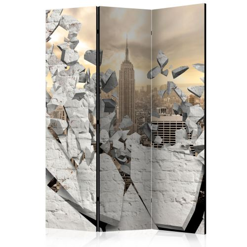 Paravent 3 volets - City behind the Wall [Room Dividers] - Décoration, image, art | 135x172 cm |