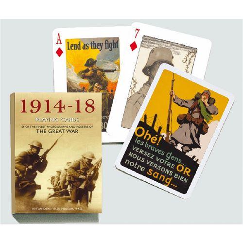 PIATNIK Jeu de 55 cartes GRANDE GUERRE 1914 1918 Multicolore