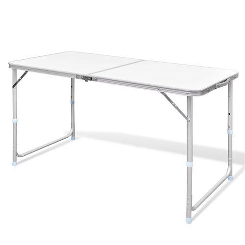 Table pliable de camping Hauteur réglable Aluminium 120x60 cm