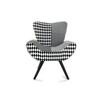 Fauteuil Patchwork Noir Et Blanc Achat Prix Fnac - Fauteuil patchwork noir et blanc