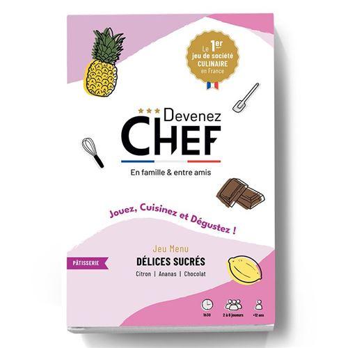 Devenez Chef - Jeu de société culinaire - Menu Délices sucrés - Devenez Chef