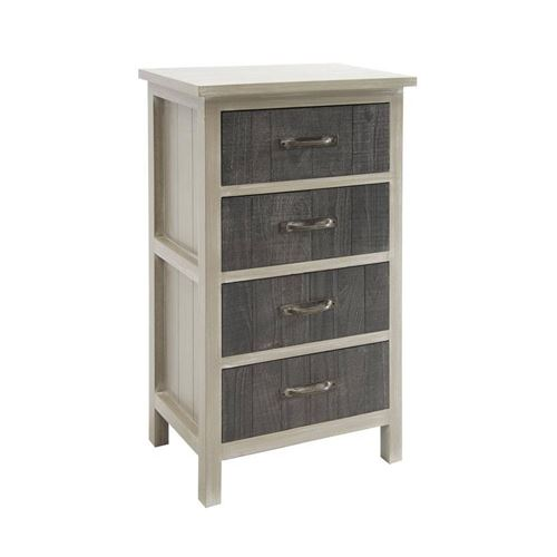 Aubry Gaspard - Commode 4 tiroirs en pin et medium