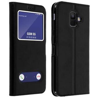 Etui Housse Coque Noir Samsung Galaxy A6 2018