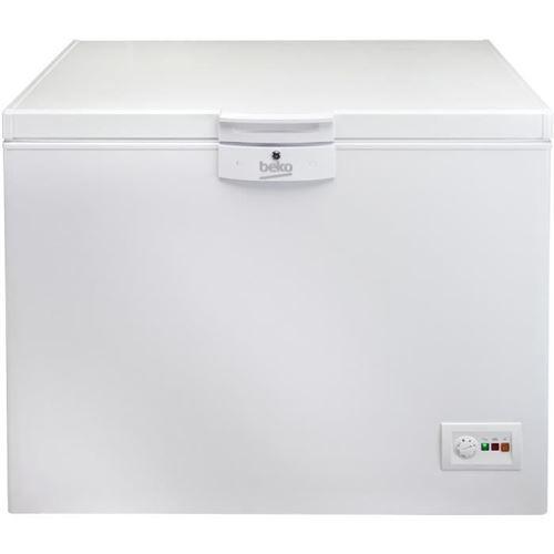 Beko HSA32530N - Congélateur coffre - pose libre - largeur : 110.5 cm - profondeur : 72.5 cm - hauteur : 86 cm - 298 litres - classe A+ - blanc
