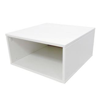 Cube De Rangement Bois Largeur 50 Cm Couleur Blanc