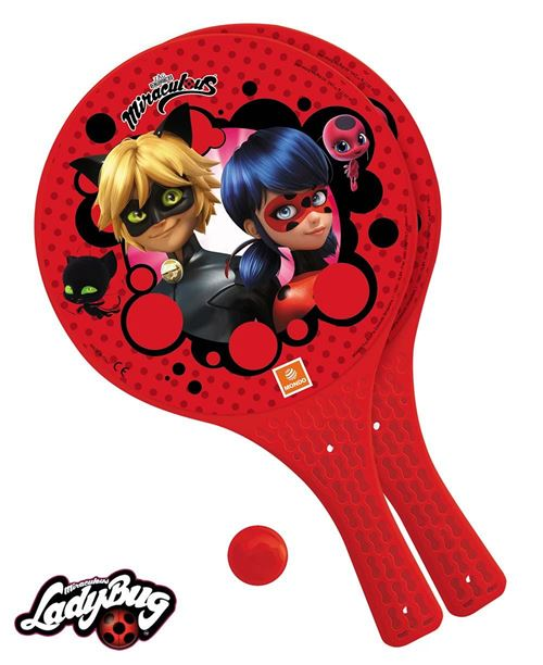 LadyBug Miraculous Set 2 raquettes + balles