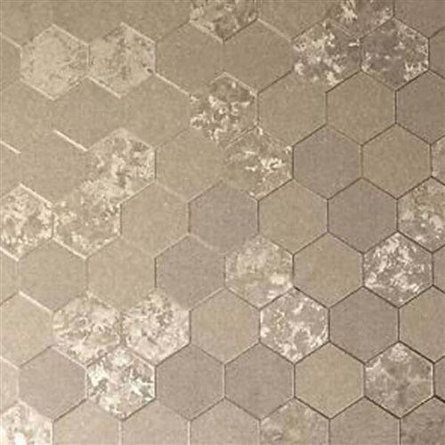 DUTCH WALLCOVERINGS Papier peint Nid d'abeille Champagne