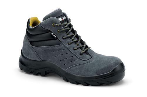 Chaussures de sécurité S24 COPA S1P - Croûte de cuir velours gris - Taille 43 - 5702