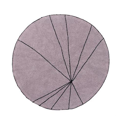 Tapis géométrique rond rose trace lorena canals