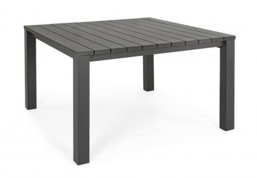 Table de jardin en aluminium coloris anthracite - Dim : L 160 x P 160 X H 76 cm -PEGANE-