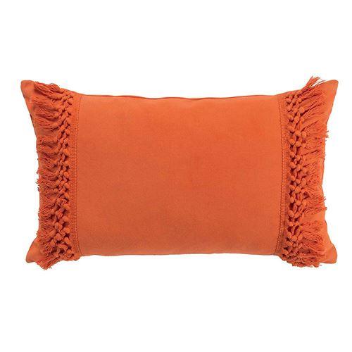 Coussin orange déhoussable 30x50 cm en coton Salma