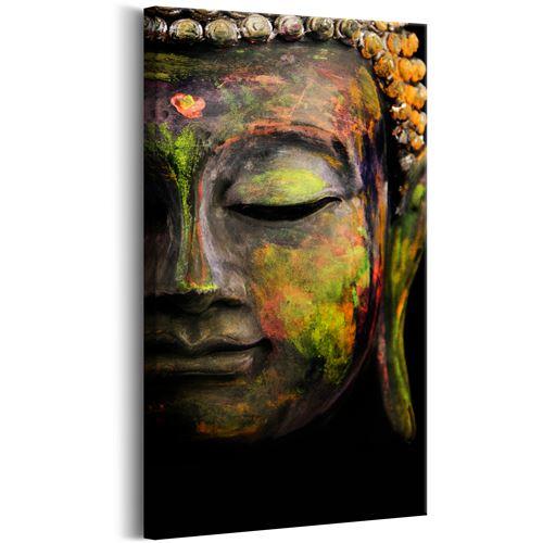 Tableau - Buddha's Face - Décoration, image, art | Zen | 40x80 cm |