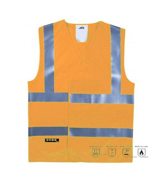 Gilet Haroun Fluo Zone Atex (Orange Fluo - Taille M)