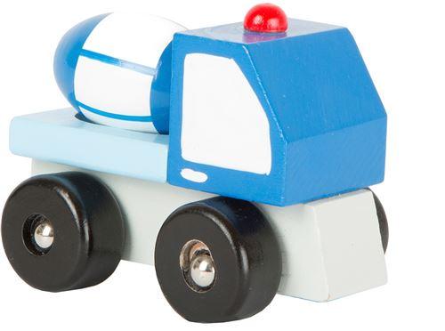 Small Foot wagon à ciment bleu 7 x 5 cm