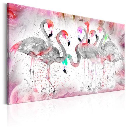 Tableau - Flamingoes Family - Artgeist - 90x60