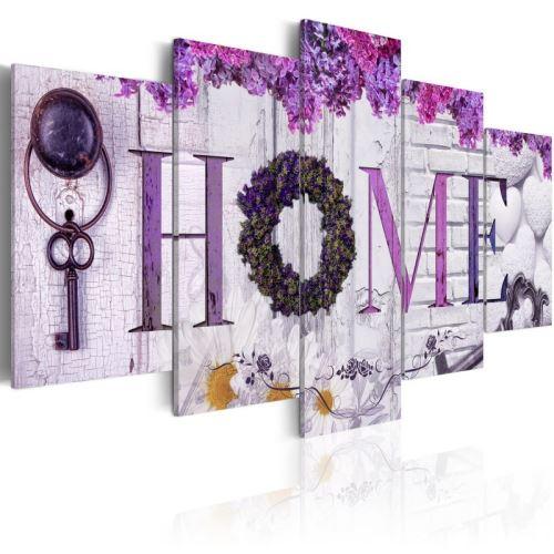 Tableau - Purple House .Taille : 100x50