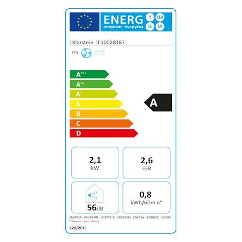Ventilateur Rafra/îchisseur dair humidificateur KLARSTEIN Maxfresh Ocean 444 m/³//h r/éservoir: 6L minuterie jusqu/à 15h 65W 4 Vitesses Refroidisseur Bleu 3 Modes: Normal//Nature//Nuit