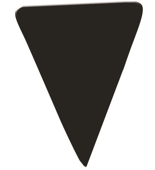Etiquette triangle neutre noir gm