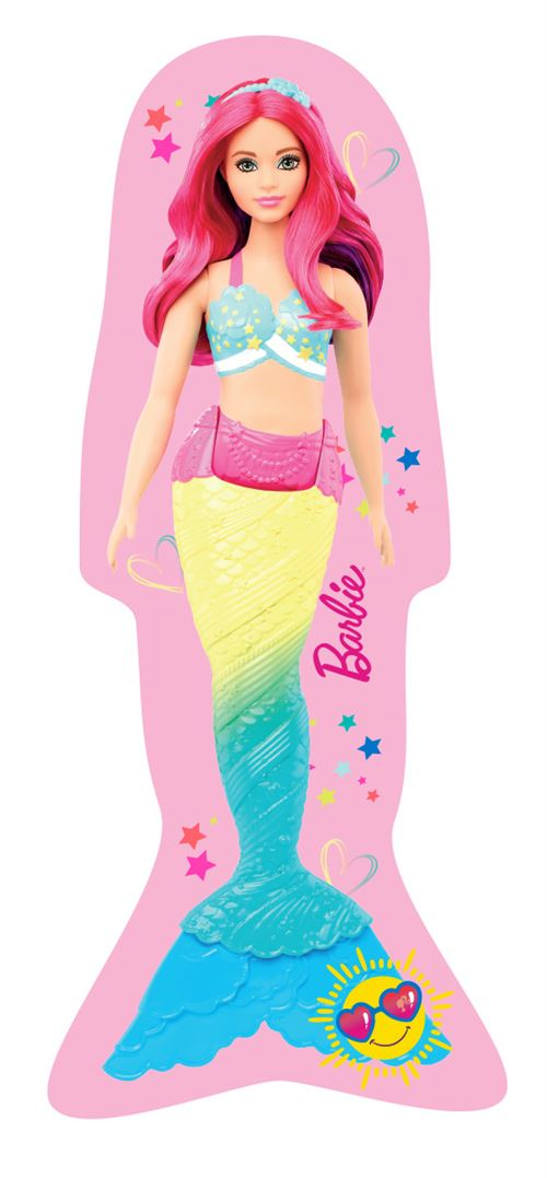 Barbie coussin barbie figure filles 40 cm polyester rose