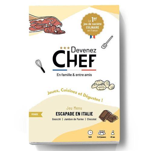 Devenez Chef - Jeu de société culinaire - Menu Escapade en Italie - Devenez Chef