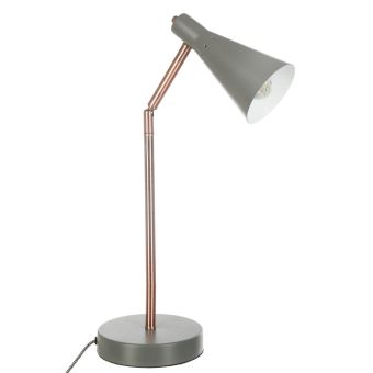 Lampe A Poser Moderne Et Design Gris Et Cuivre Achat Prix Fnac