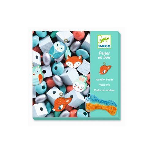 Djeco DJ09807 - Perles en bois Petits animaux