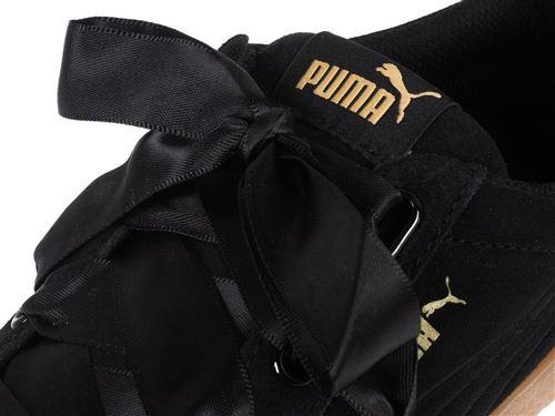Chaussures Femme Puma Vikky Platform Ribbon Noires Taille 37