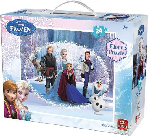 Puzzle enfant disney 24 pieces : elsa - la reine des neige - frozen