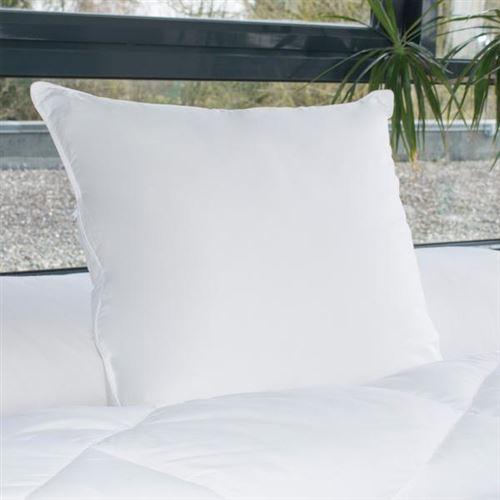 Oreiller Gonflant Alaska, 800gr/m², 65x65cm, Enveloppe 100% Coton Percale