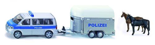 Siku Voiture de police allemande avec remorque à chevaux et chevaux (2310)