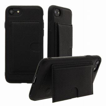Coque Iphone 7 8 porte carte silicone noir