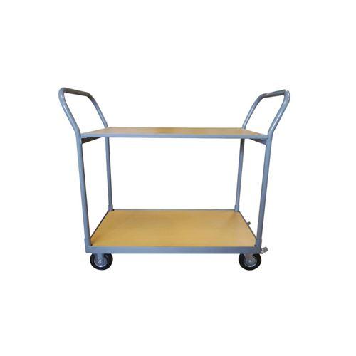 Chariot de manutention - 2 plateaux en bois - 250 kg