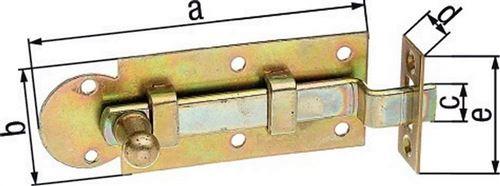 GAH Alberts Verrou de fenêtre avec loquet 80 mm coudée à, avec EAN, 11321 6