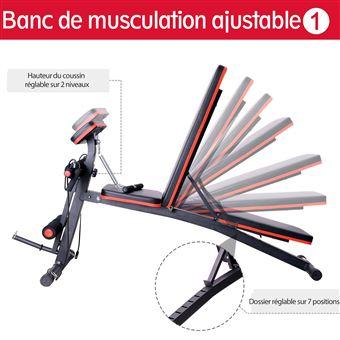 Banc de musculation pliable inclinable réglable 153L x 53l x
