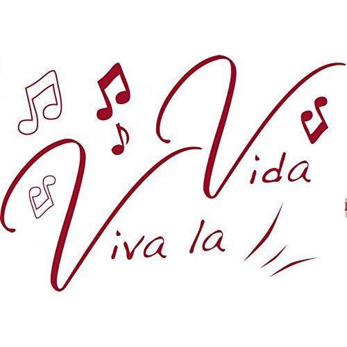 DecoSoon Stickers Vive La Vie (70 x 100 CM)