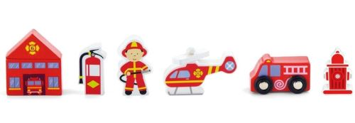 Viga Toys figurines à jouer pompiers à 6 voix