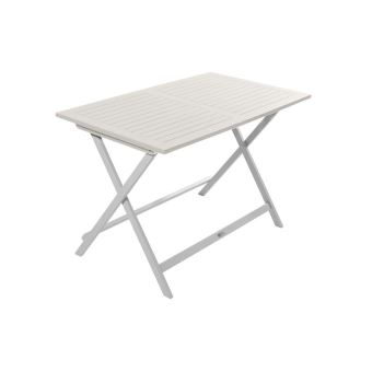 Table de jardin pliante rectangulaire BURANO CITY GREEN Blanc ...