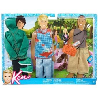 official photos buy good most popular Mattel - accessoire poupee barbie - 3 tenues ken - veste et ...