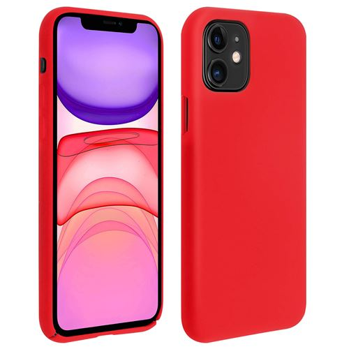 Coque iPhone 11 Silicone Semi-rigide Mat Finition Soft Touch Rouge