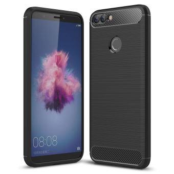 Coque de protection brossée haut de gamme Carbon Fiber Huawei P Smart noire smartphone 2018 - Accessoires pochette XEPTIO : Exceptional case for ...