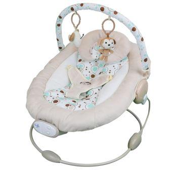 Transat bébé vibrant et musical + Barre à jouets et dossier inclinable - Bulle de rêve