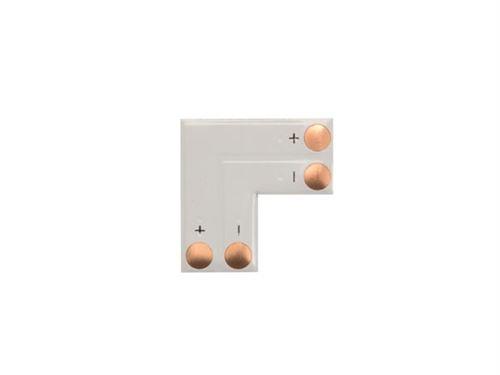 adaptateur angle pour flexible led en l - 1 couleur 10 mm