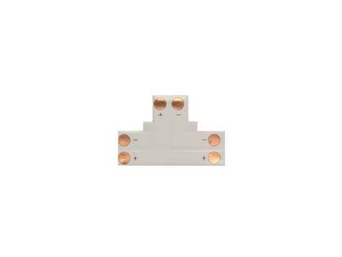 adaptateur angle pour flexible led en t 1 couleur 8 mm