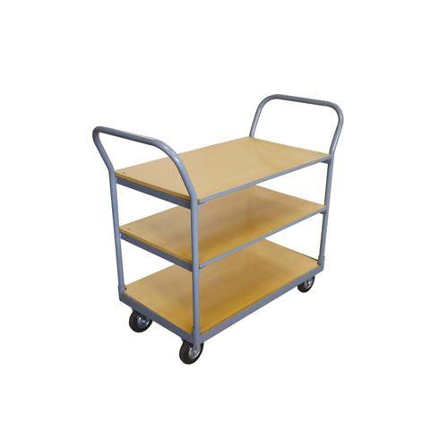 Chariot de manutention - 3 plateaux en bois - 250 kg
