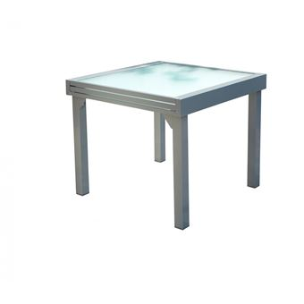 Table Molvina : Table De Jardin Extensible 8 Personnes En Aluminium ...