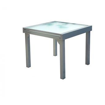 Table Molvina : Table De Jardin Extensible 8 Personnes En Aluminium