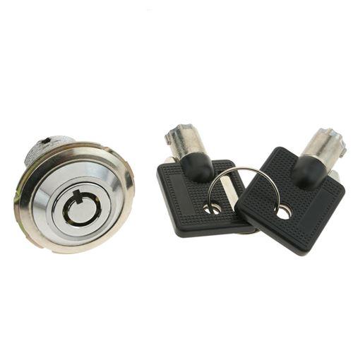 Serrure à pulsation batteuse barillet 27mm x M18 avec clé tubulaire