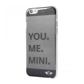 Coque gris fume translucide Mini Cooper You Me Mini pour iPhone 6
