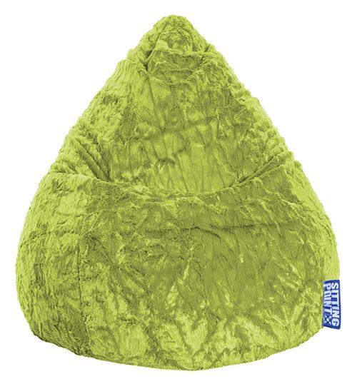 Pouf Fluffy L vert anis