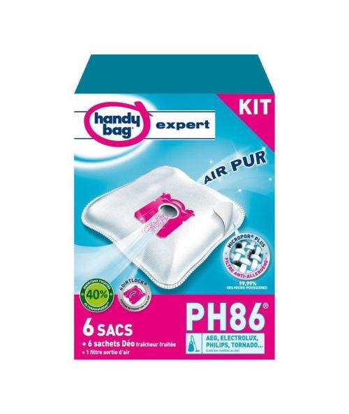 Handy bag expert ph86 kit de 6 sacs aspirateur + accessoires